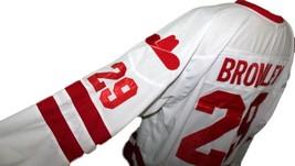 Any Name Number Calgary Cowboys Retro Hockey Jersey New Bromley White Any Size image 4