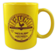 ELVIS Coffee Mug That's All Right & Blue Moon of Kentucky Label Art Sun Records image 1