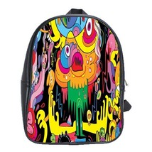 Backpack School Bag New Beautiful Design Monster Psychedelic Abstract Gaming Fan - $33.00