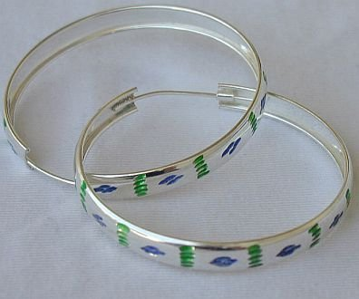 Green blue hoops a