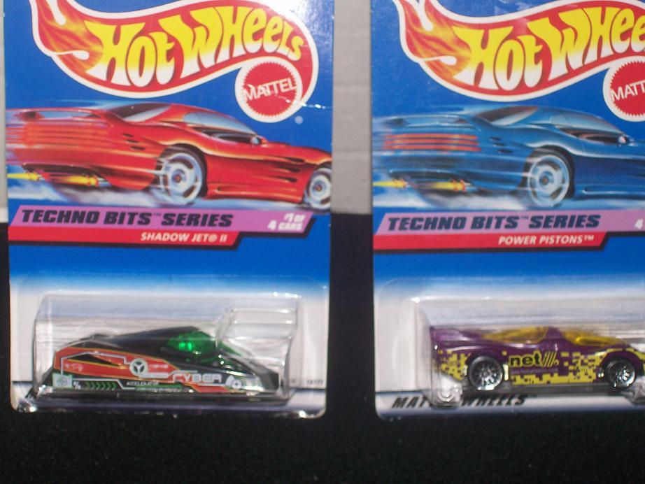 Hot Wheels Techno Bits Series Complete Set of 4