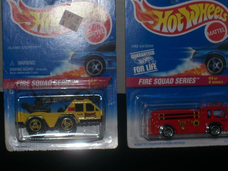 Hot Wheels 1996 FIRE SQUAD SERIES 4 CAR SET