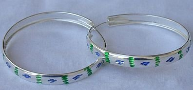 Green ad light blue hoops