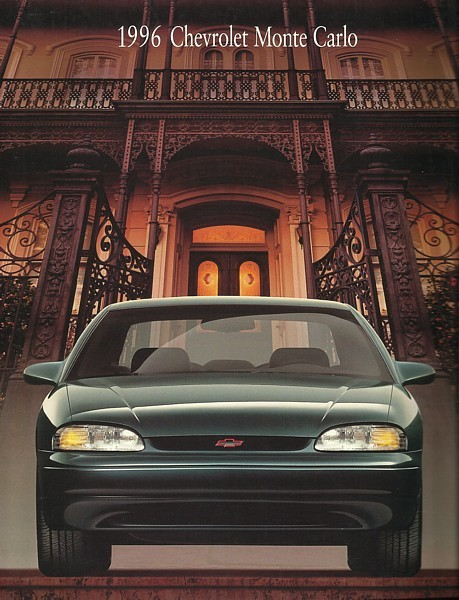 1996 Chevrolet MONTE CARLO brochure catalog 96 LS Z34 Chevy