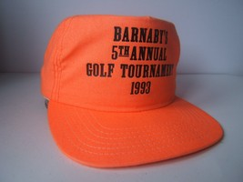 Barnaby's Golf Tournament 1993 Hat Vintage Orange Snapback Baseball Cap Made USA - $23.05