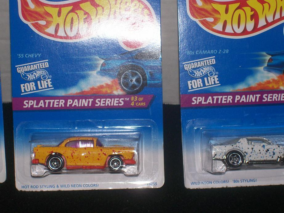 Hot Wheels SPLATTER PAINT SERIES SET OF 4