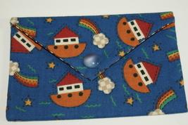 Bag Ark Fabric Handmade Lined Trinkets, Kleenex, PDA, Jewelry Handsewn - $10.00