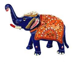 Rastogi HandicraftsTrunk-Up Good Luck Elephant Sculpture - Metal Figurin... - $44.55
