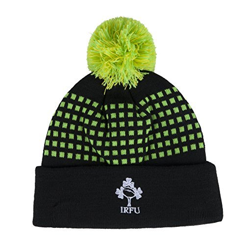 Canterbury Ireland Rugby 2018 Acrylic Bobble Hat - Tap Shoe - Black