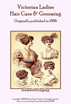 1896 Victorian Hair Care Book Pomades Shampoo Rinse Curling Hand Lotion ... - $12.99