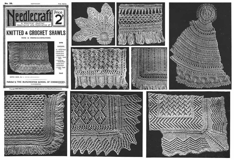 Primary image for 1910 Gibson Girl Era Shawl Pattern Book Knit Knitting Crochet Shawls Reenactment