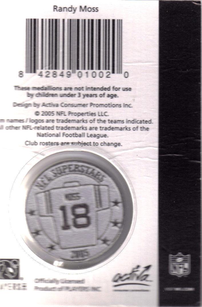 RANDY MOSS Official NFL Medallion