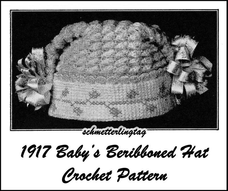 Primary image for 1917 Titanic WWI Baby Hat Crochet Pattern Cap Baptism Christening Shower Gifts 1