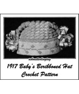 1917 Titanic WWI Baby Hat Crochet Pattern Cap Baptism Christening Shower... - $5.99