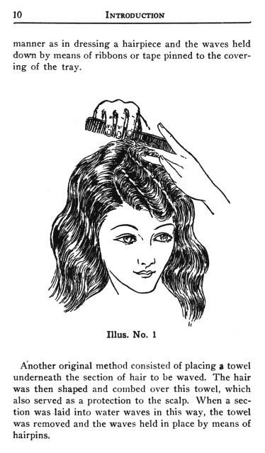 1923 Flapper Era Glamourous Hairstyles Book Water Waving Hair Wave DIYBeautician