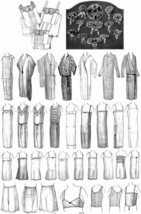 1925 Lingerie Book Sew Flapper Chemise Bloomers Bras Underwear Making Sewing DIY - $12.99