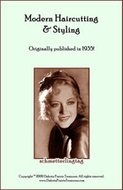 1935 Flapper Era Hairstyles Book Depression Era Hair Cuts Illustrated Beautician - $12.99