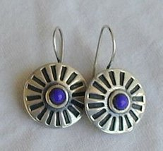Blue rounds earrings - $25.00