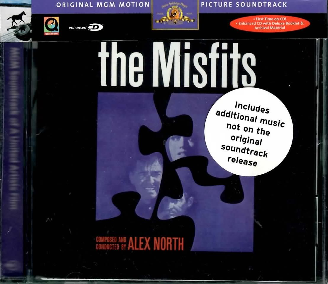 MISFITS SOUNDTRACK ALEX NORTH CD NEW RARE