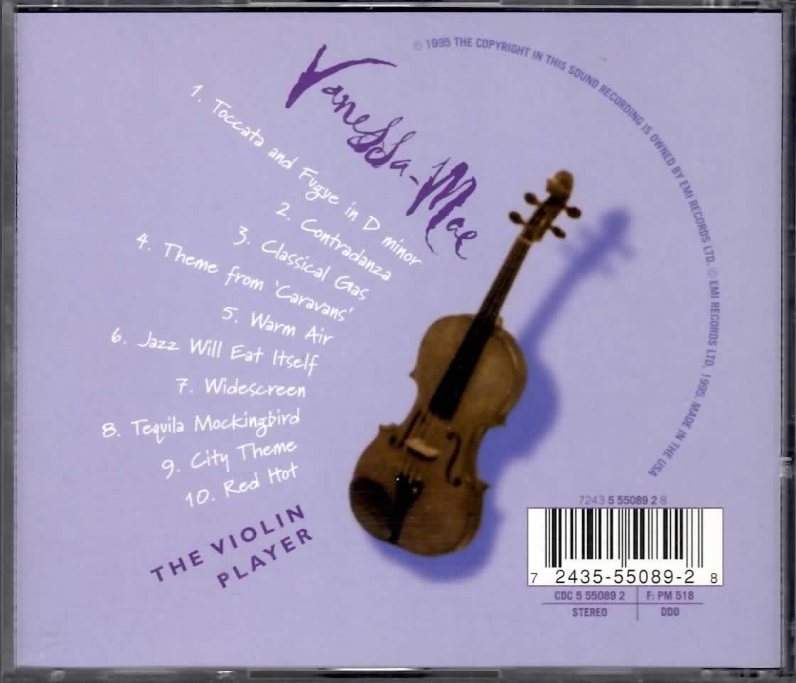 VANESSA MAE THE VIOLIN PLAYER CD  RARE