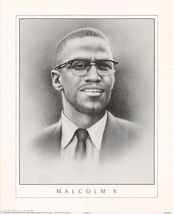 SMALL POSTER : FAMOUS PEOPLE - MALCOMB X - FREE SHIPPING ! #EW3034 RP58 CL - $22.00