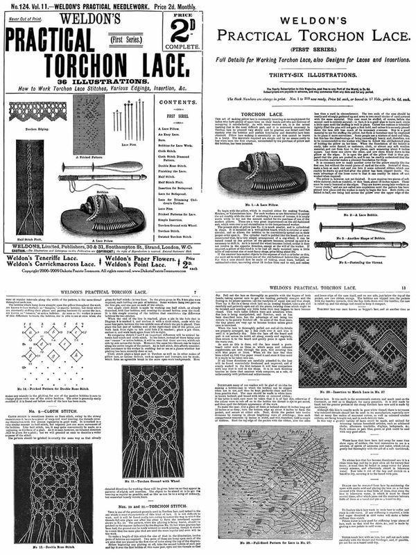 Primary image for c1905 Edwardian Weldons Torchon Pillow Lace Pattern Book Make Handmade Laces DIY