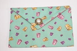 Bag Thimbles Fabric Handmade Lined Trinkets, Kleenex, PDA, Jewelry Handsewn - $10.00