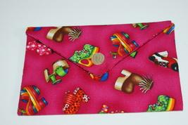 Bag Shoes Fabric Lined Handmade Trinkets, Kleenex, PDA, Jewelry Handsewn - $10.00