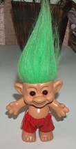 Troll Green Hair Amber Eyes and Red Shorts by Forest - $8.00