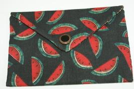 Bag Watermelon Fabric Lined Handmade Trinkets, Kleenex, PDA, Jewelry Han... - $10.00