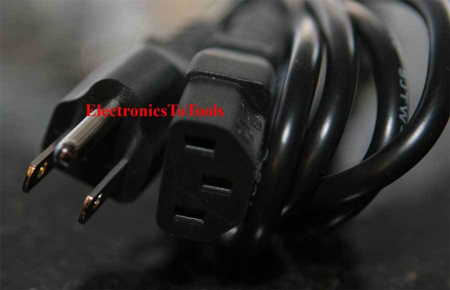 Mitsubishi XL2U LCD Projector AC Power Cord Cable Plug Black 3 Prong New