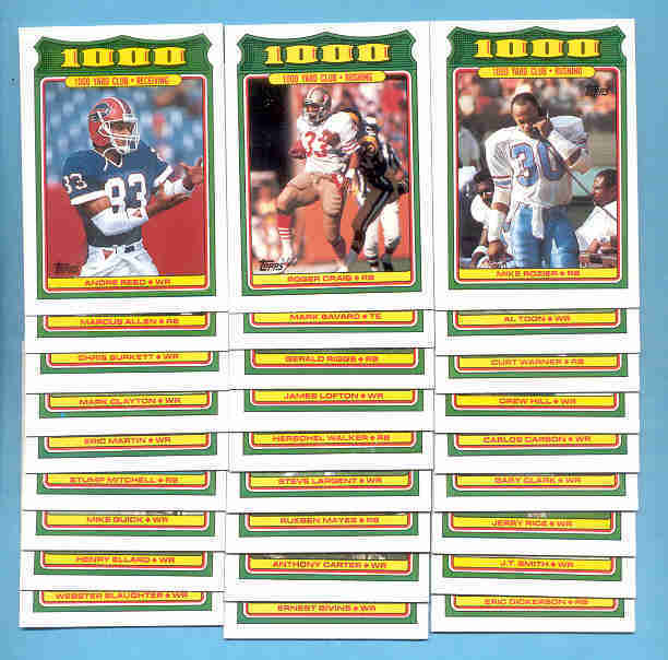 1988 Topps 1000 Yard Club Football Set