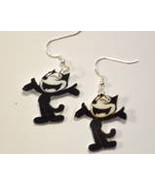 Felix the Cat-Earrings-retro,altered art,movies,t.v-fun - $9.00