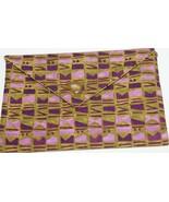 Bag Aztec Fabric Lined Handmade Trinket, Kleenex, PDA, Jewelry Handsewn - $10.00