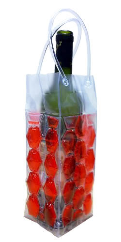 Cool Sack Wine Tote Gel Freeze 1 Bottle Chill Bag Vinyl