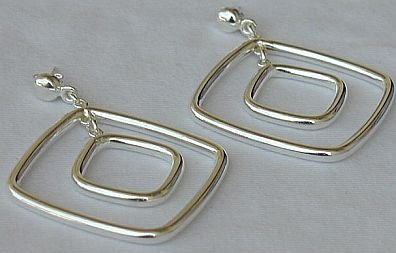 double square earrings