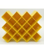 Copco Lubge-Randel Spice Jar Rack Yellow Geometric Honeycomb Mountable S... - $39.99