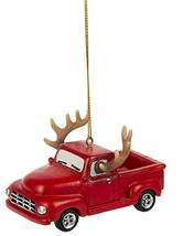 Midwest-CBK Farm Truck Hanging Ornament with Antlers - $8.86