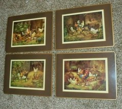 Vintage Pimpernel England Placemats Roosters Set of 4 different scenes - $33.83