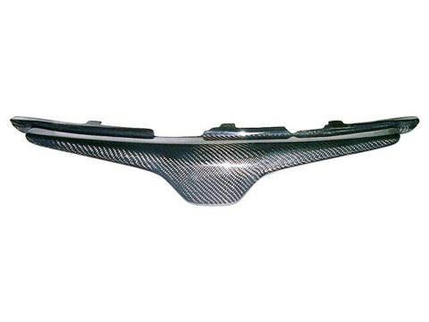 Front Hood Carbon Fiber Grill Grille Fits Honda Accord 03 04 05 2003-2005 Coupe