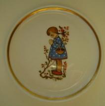 Berta Hummel Miniature Plate, Girl with Basket and Bush - $12.00