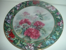 W S George Lena Liu White Eared Hummingbird Plate - $18.99