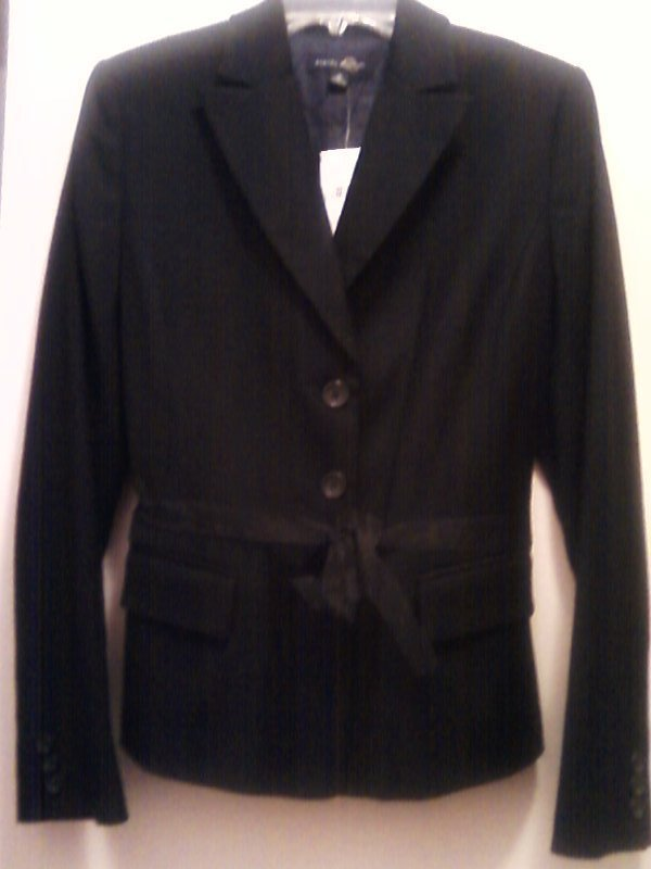 Banana Republic Wool Blend Blazer Jacket Black  Misses Size 10 NWT