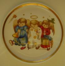 Berta Hummel Miniature Plate, Three Angels - $12.00