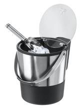 Double Wall Ice Bucket Flip Lid Stainless Scoop Buckets Wine Bar Cooler ... - $621,72 MXN