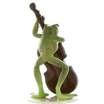 Hagen Renaker Frog Froggy Mountain Breakdown Double Bass Ceramic Figurine image 4