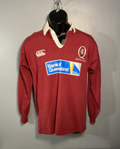 Rugby Ballymore Shirt Men's Queensland Small Made in South Africa Red/White - $57.19