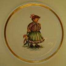 Berta Hummel Miniature Plate, Girl and Doll - $12.00