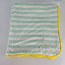 Carters Child of Mine Giraffe Elephant Striped Turtle Baby Blanket Yellow Sherpa - $34.64