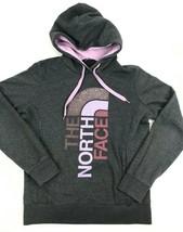 TNF North Face DISTRESSED Fleece HOODIE Sweatshirt WOMENS Gray PURPLE Cr... - $24.75